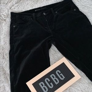 BCBG MAXAZRIA velvet skinny pants
